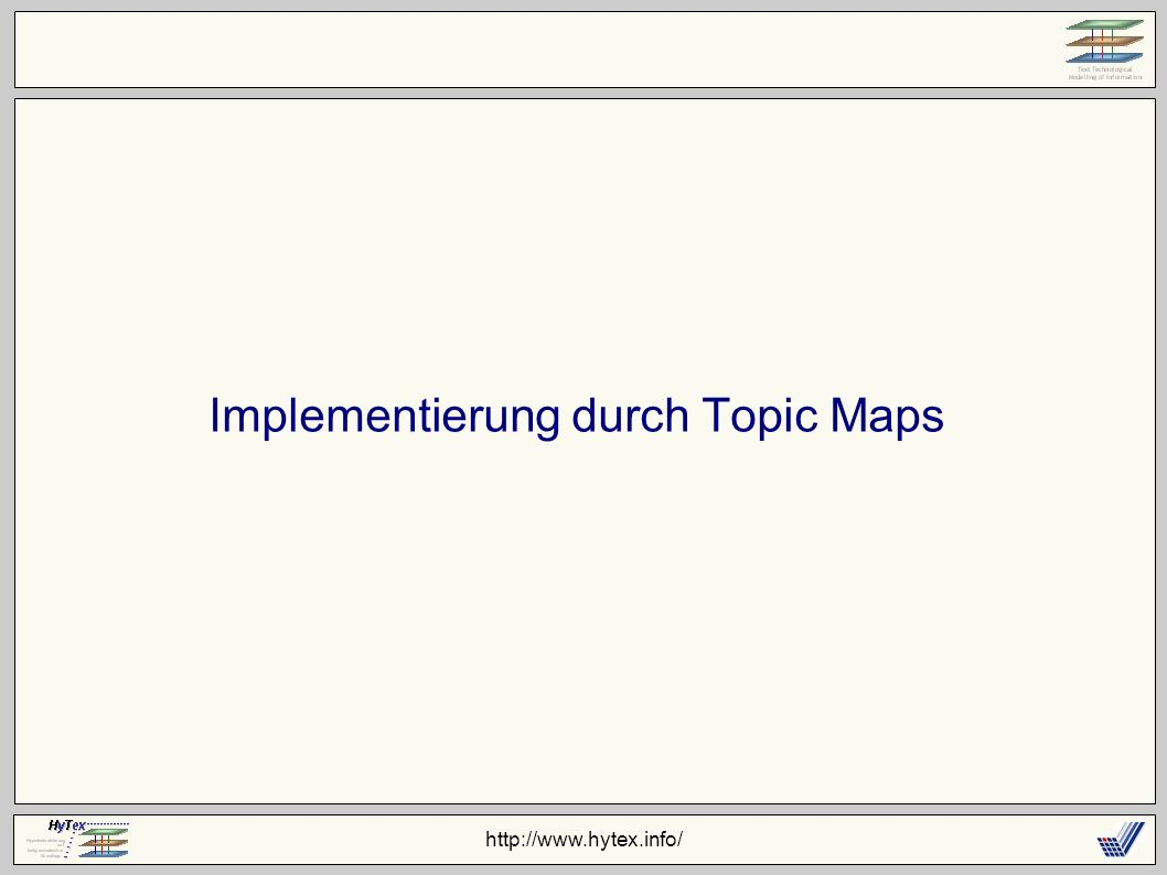 Implementierung durch Topic Maps