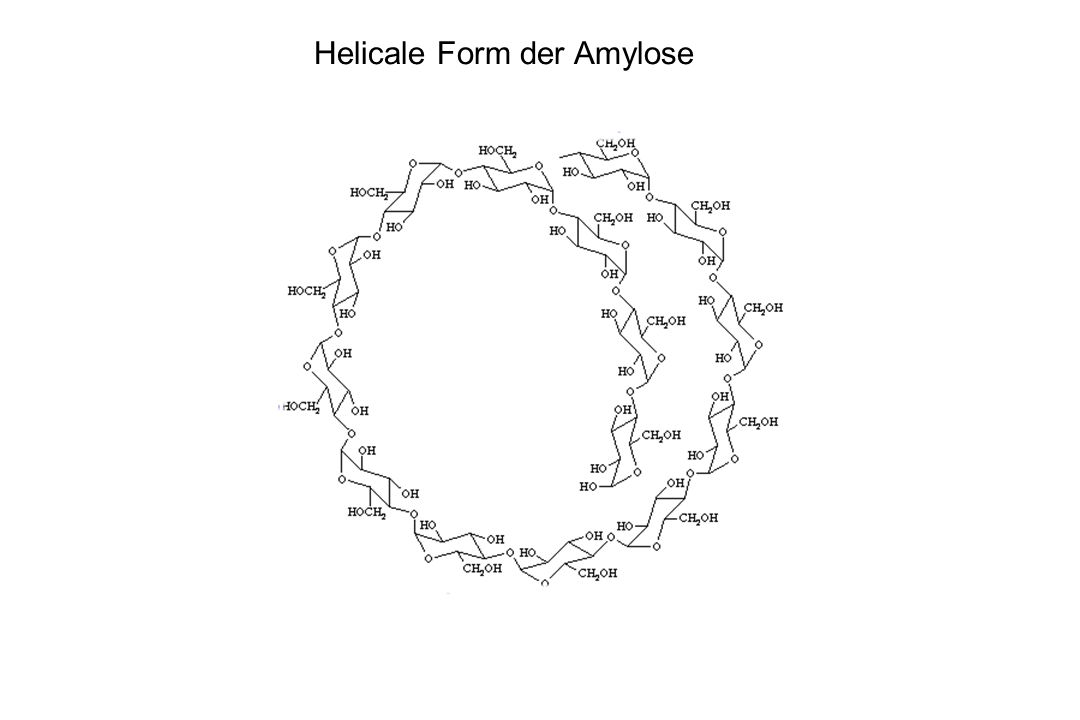 Helicale Form der Amylose