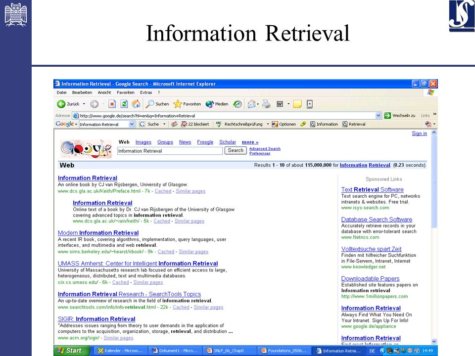 16 Information Retrieval