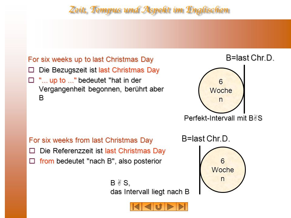 For six weeks up to last Christmas Day Die Bezugszeit ist last Christmas Day Die Bezugszeit ist last Christmas Day ...