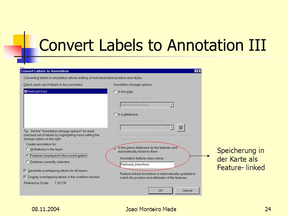 Joao Monteiro Meda24 Convert Labels to Annotation III Speicherung in der Karte als Feature- linked