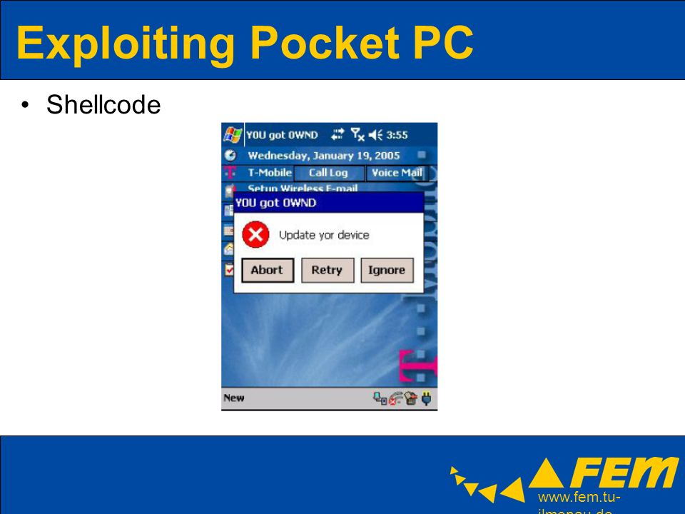 ilmenau.de Exploiting Pocket PC Shellcode