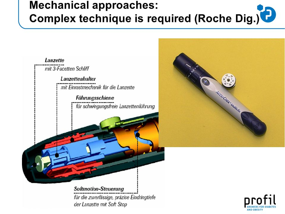 Mechanical approaches: Complex technique is required (Roche Dig.)
