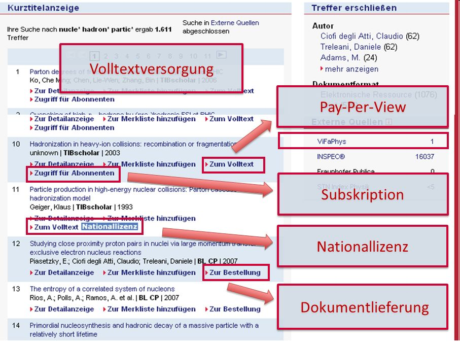 17 GetInfo Volltextversorgung Dokumentlieferung Pay-Per-View Subskription Nationallizenz