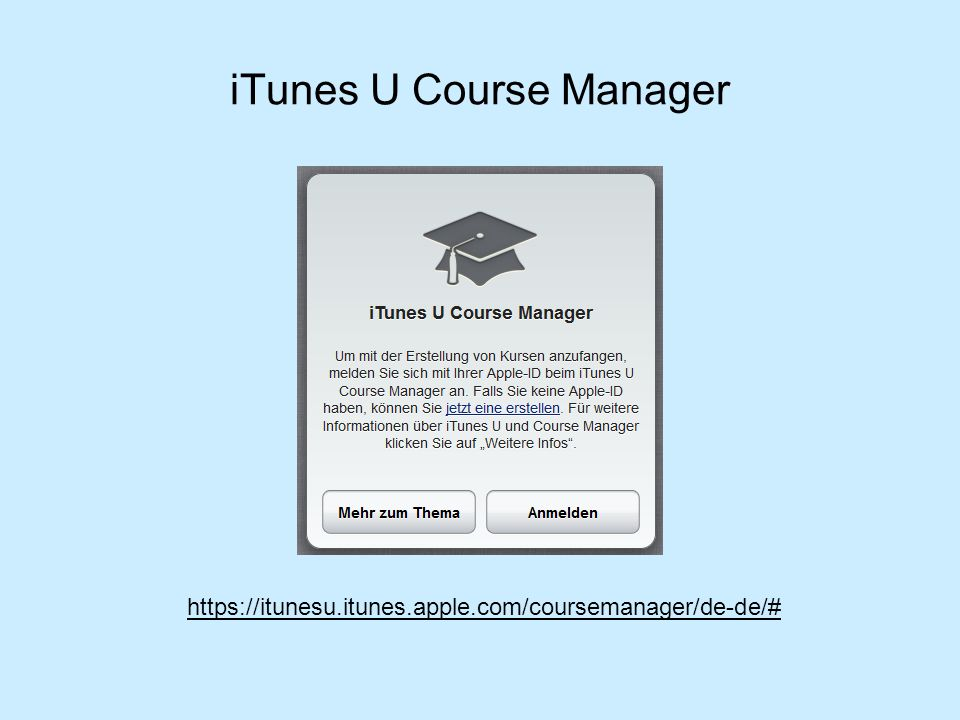 iTunes U Course Manager