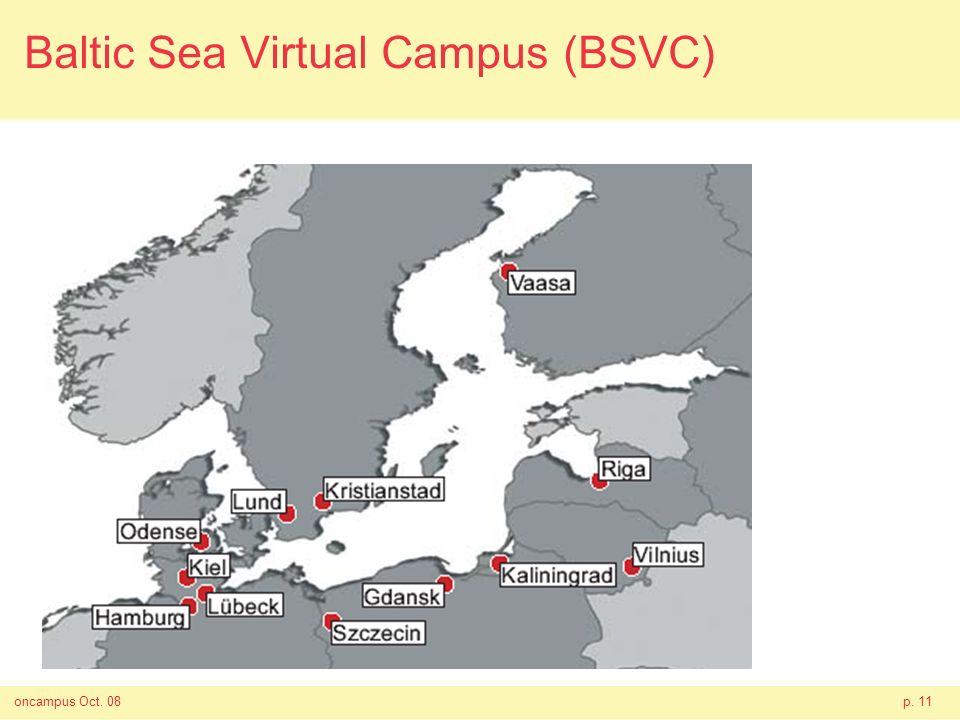 oncampus Oct. 08p. 11 Baltic Sea Virtual Campus (BSVC)