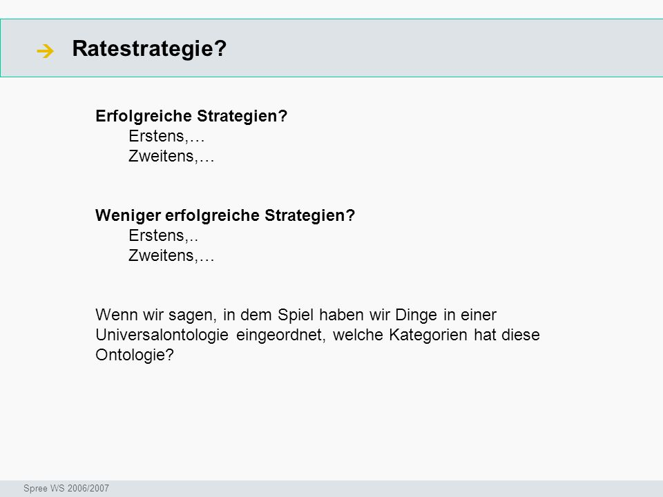 Ratestrategie.