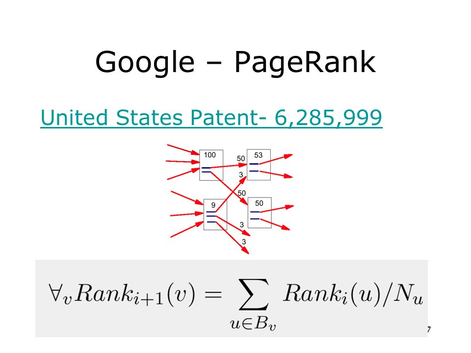 Google – PageRank United States Patent- 6,285,999