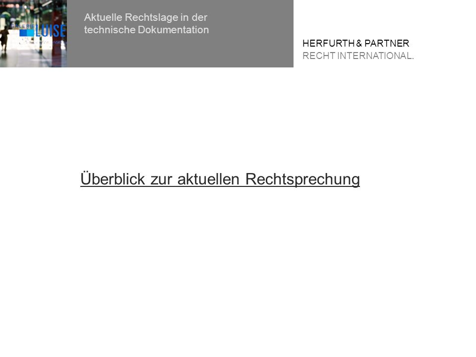 HERFURTH & PARTNER RECHT INTERNATIONAL.