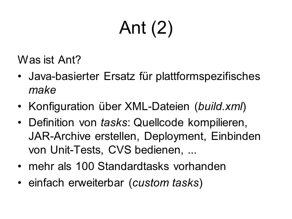 Ant (2) Was ist Ant.