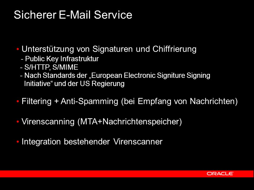 Oracle E-Mail & Voicemail