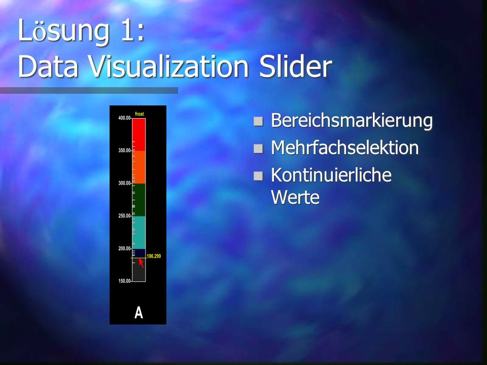 Data Visualization Slider Idee von Steven G.
