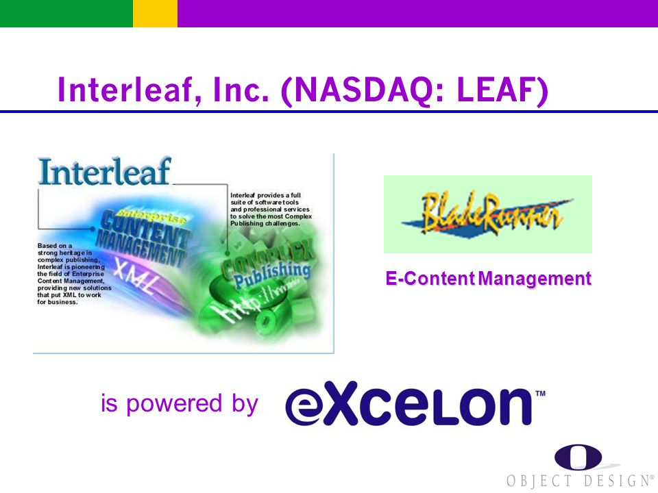 Interleaf, Inc. (NASDAQ: LEAF) E-Content Management is powered by