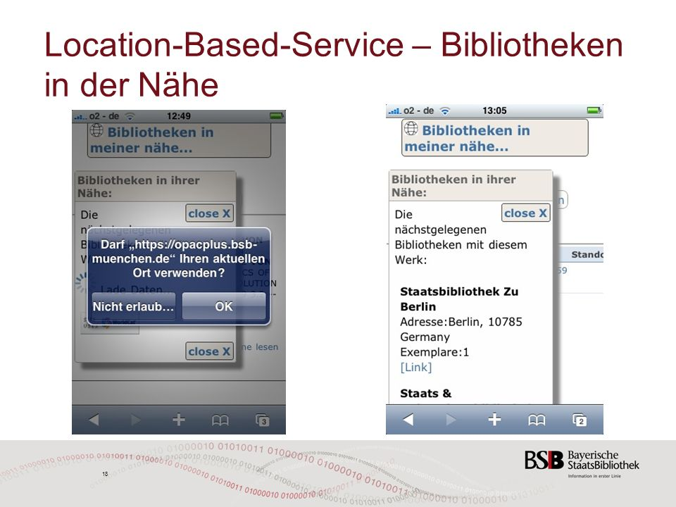 18 Location-Based-Service – Bibliotheken in der Nähe 18