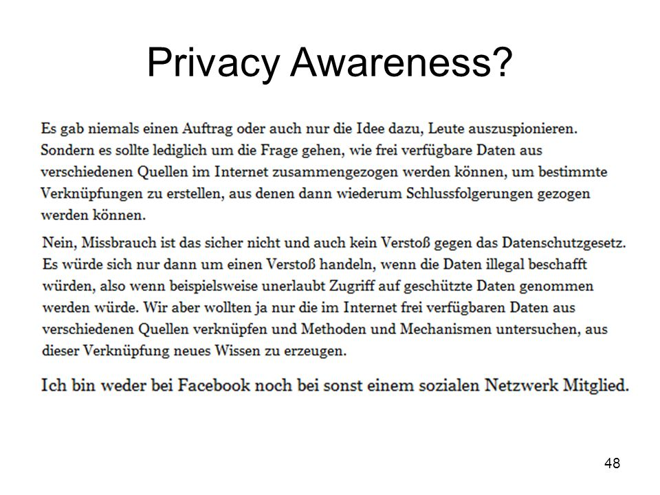 48 Privacy Awareness