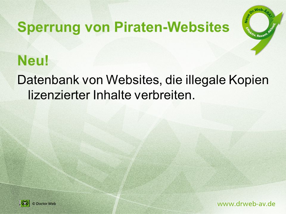 Sperrung von Piraten-Websites Neu.