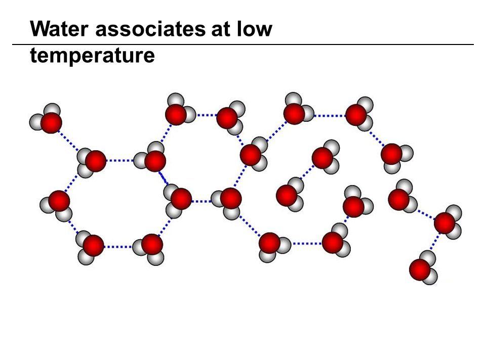 Water associates at low temperature