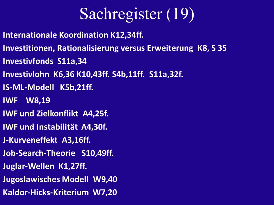 Sachregister (19) Internationale Koordination K12,34ff.