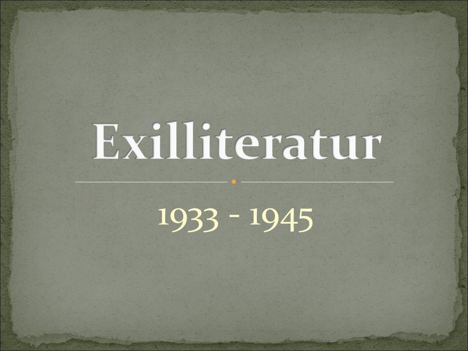 Geschichtlicher hintergrund exilliteratur