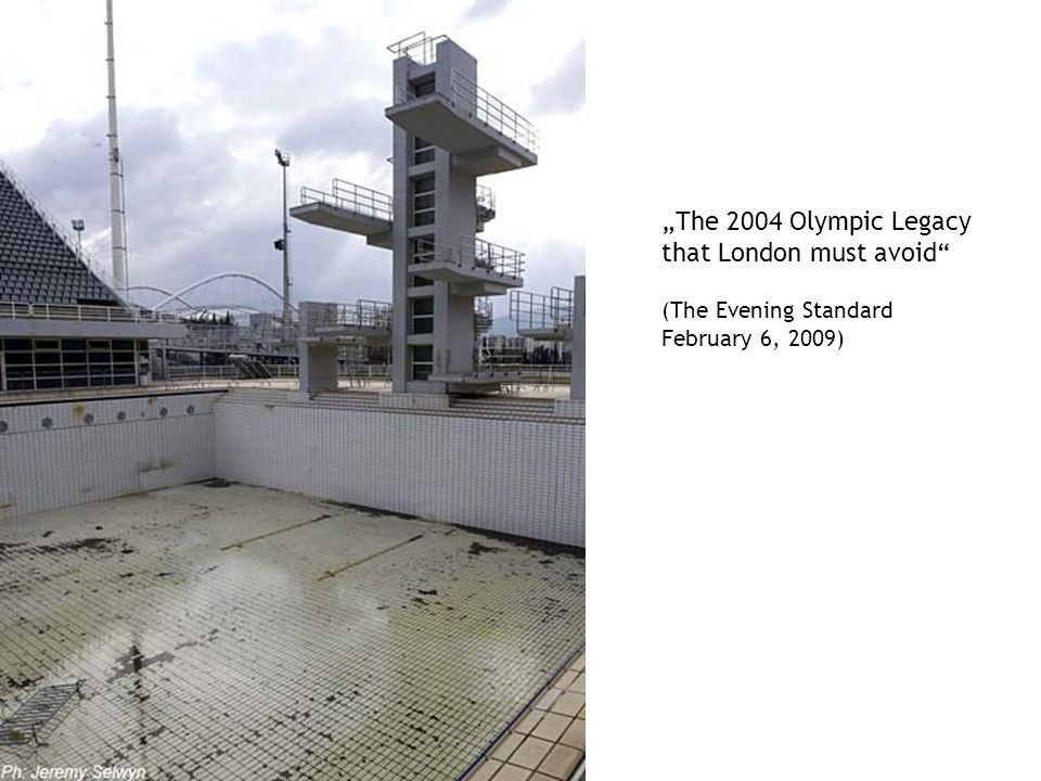 "Beratung zur Hausarbeit ""The 2004 Olympic Legacy that London must avoid (The Evening Standard February 6, 2009)"