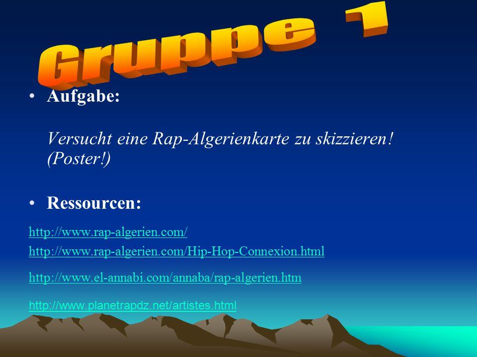 Webquestprojekt von Malika Boulkifane Webquestprojekt zum Thema: Rap ...