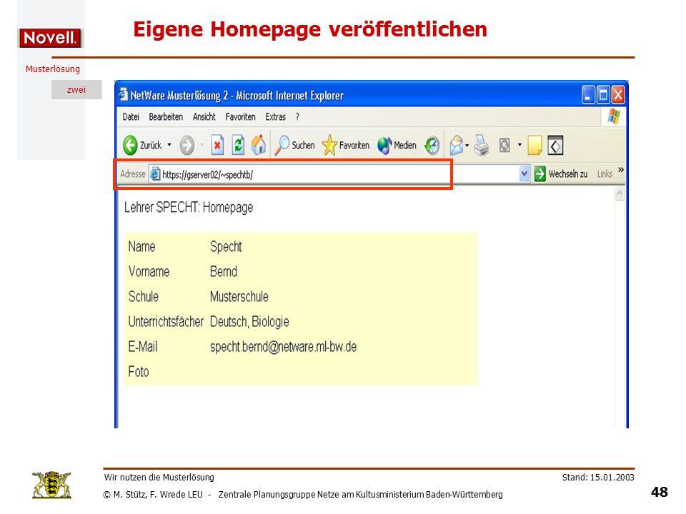 M Stütz F Wrede Leu Zentrale Planungsgruppe Netze Am