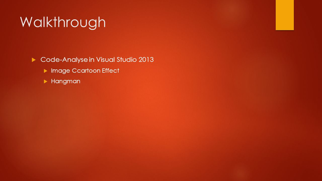 Walkthrough  Code-Analyse in Visual Studio 2013  Image Ccartoon Effect  Hangman