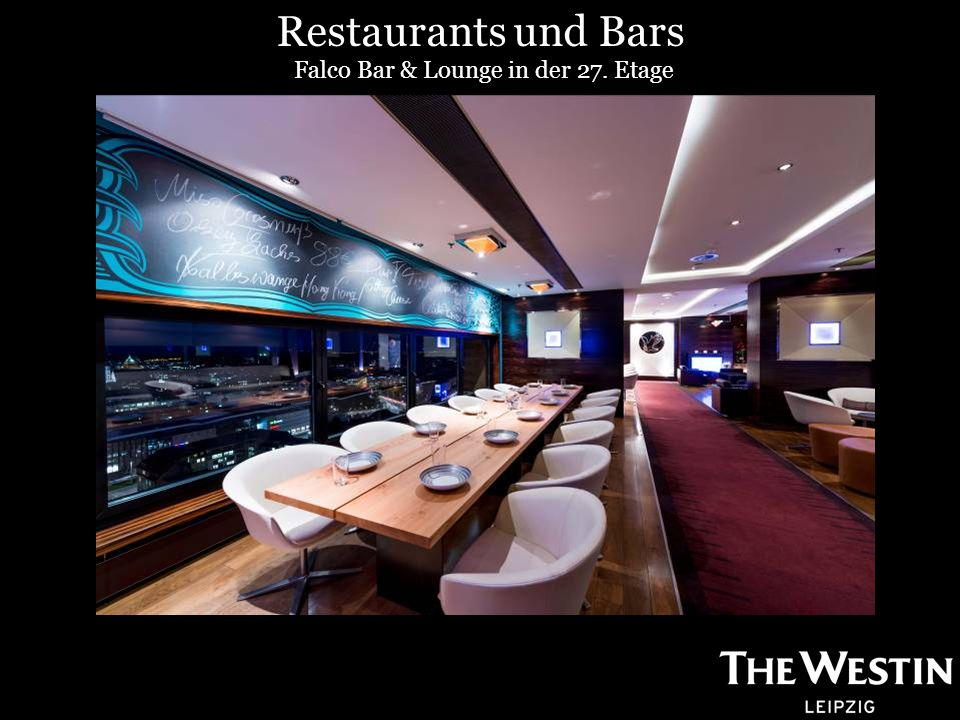 Falco Bar & Lounge in der 27. Etage Restaurants und Bars