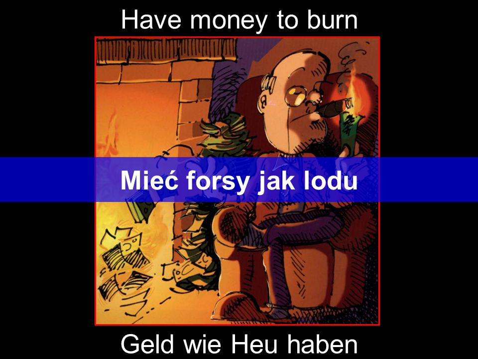 Have money to burn Mieć forsy jak lodu Geld wie Heu haben
