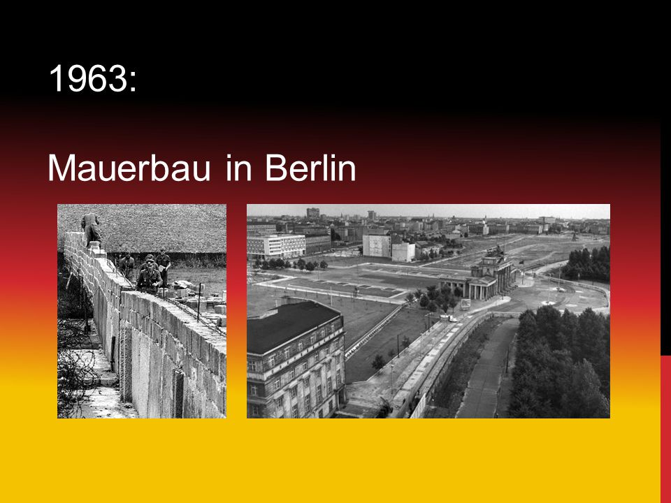 1963: Mauerbau in Berlin