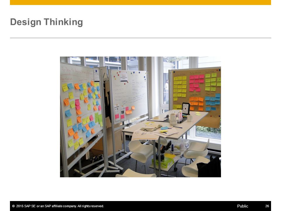 ©2015 SAP SE or an SAP affiliate company. All rights reserved.26 Public Design Thinking