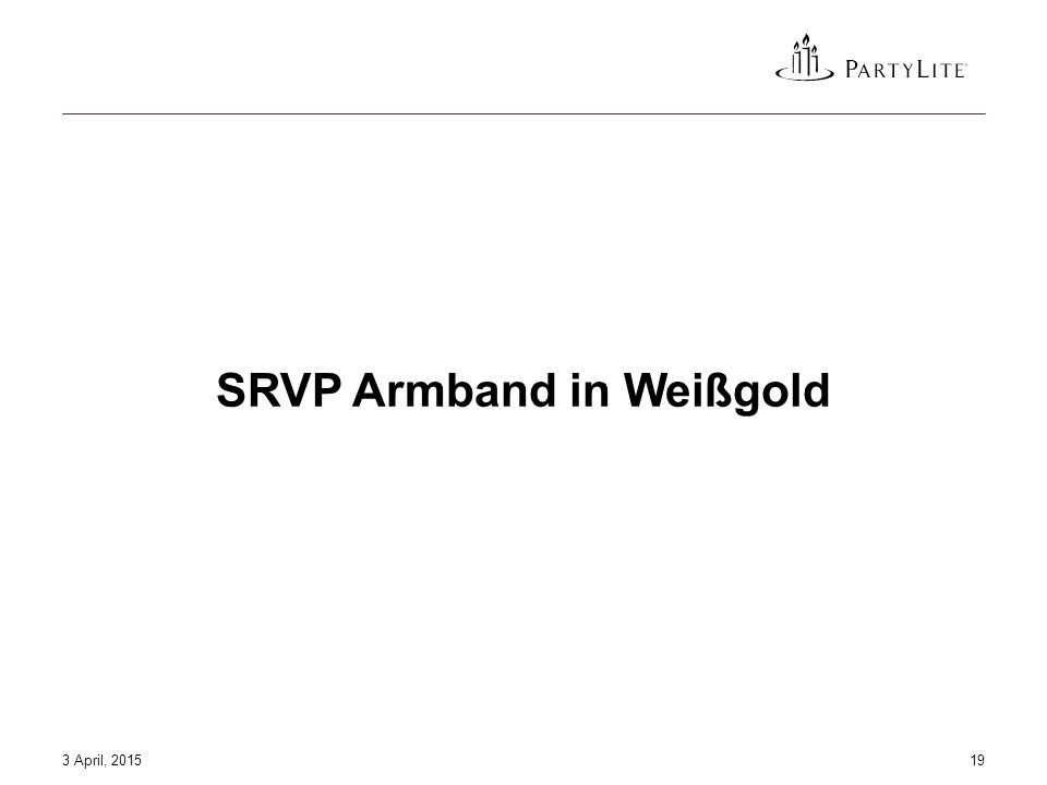 SRVP Armband in Weißgold 3 April, 201519