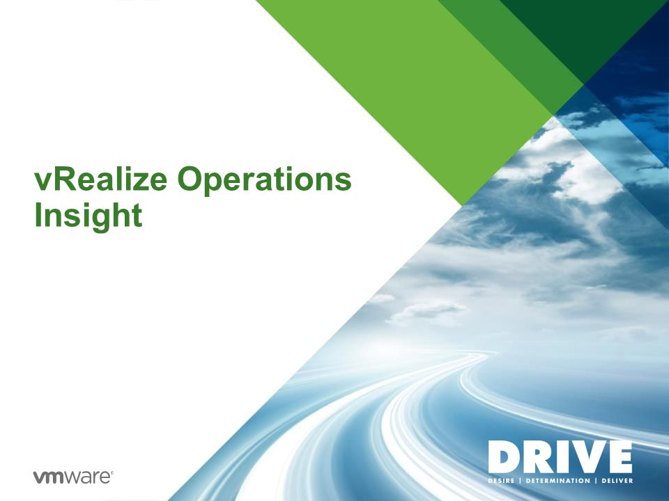 vRealize Operations Insight
