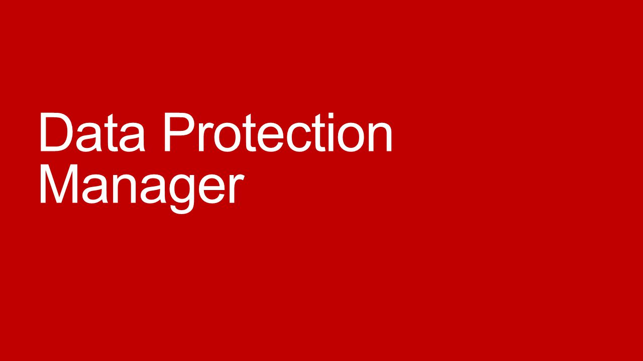 Data Protection Manager