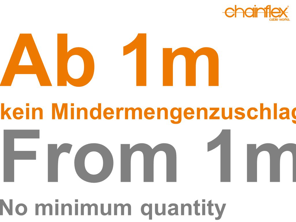 Ab 1m kein Mindermengenzuschlag From 1m No minimum quantity