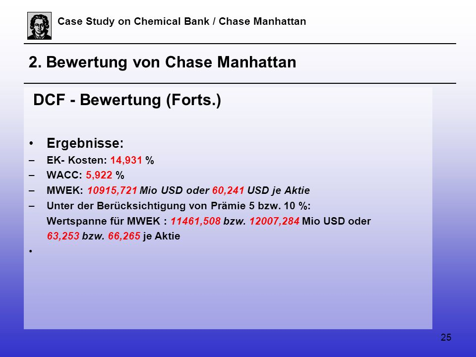 25 Case Study on Chemical Bank / Chase Manhattan 2.