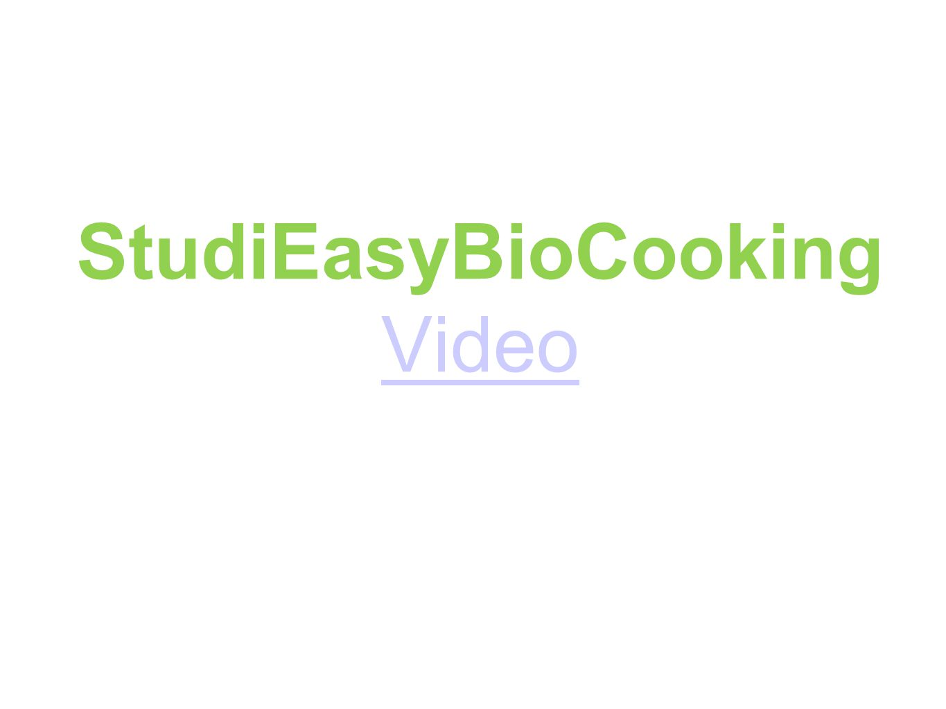 StudiEasyBioCooking Video Video