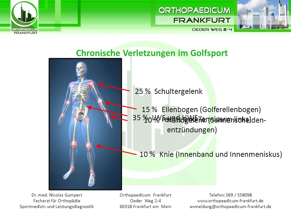Telefon: 069 / Orthopaedicum Frankfurt Oeder Weg Frankfurt am Main ...