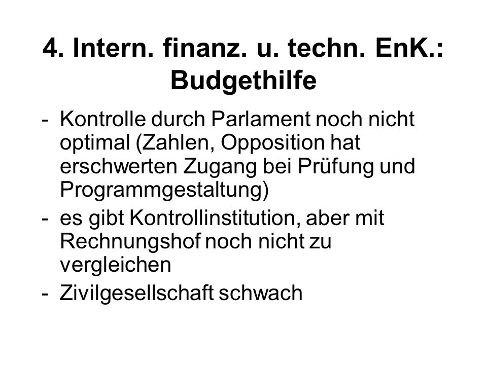 4. Intern. finanz. u. techn.