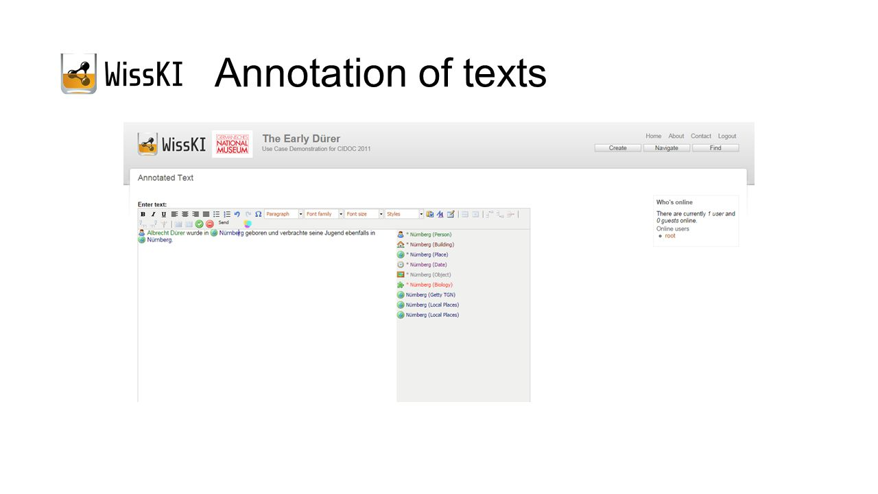 Annotation of texts