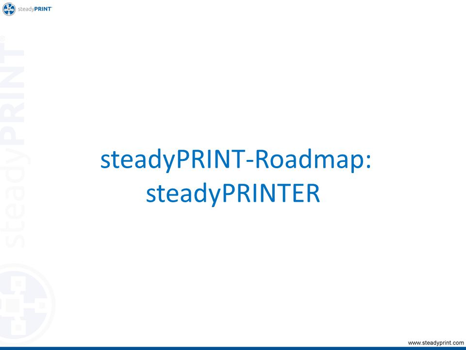 steadyPRINT-Roadmap: steadyPRINTER