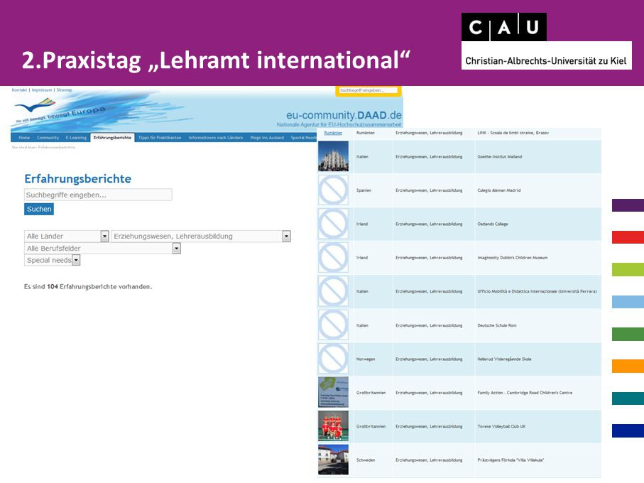 "2.Praxistag ""Lehramt international"