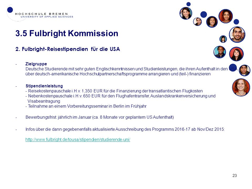 3.5 Fulbright Kommission 23 2.