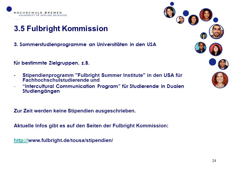 3.5 Fulbright Kommission 24 3.