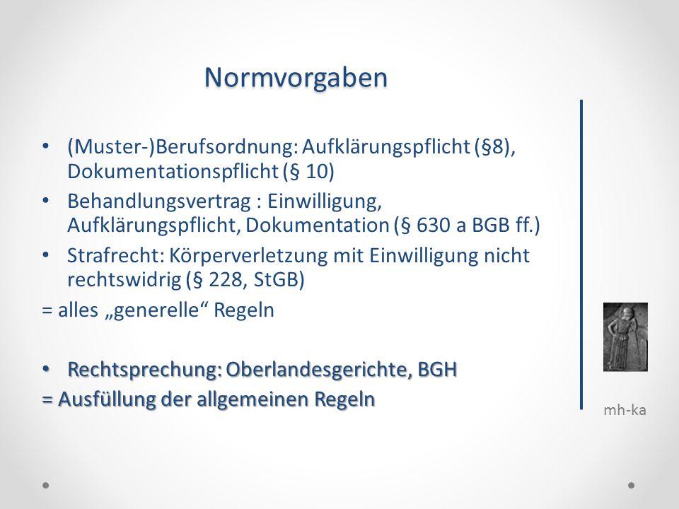 3 mh ka normvorgaben - Behandlungsvertrag Muster