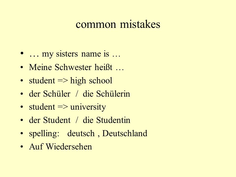 Common Mistakes Morgen Habe Ich Das Buch Fur Dich Nouns Are