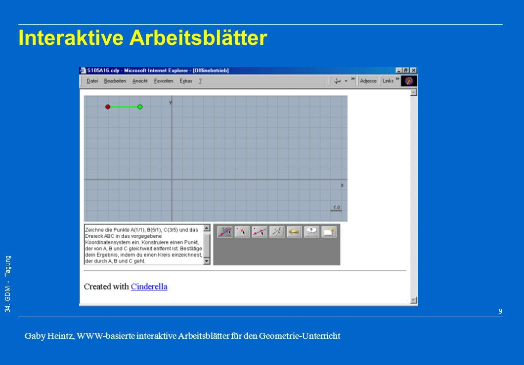 WWW-basierte interaktive Arbeitsblätter für den Geometrie-Unterricht ...