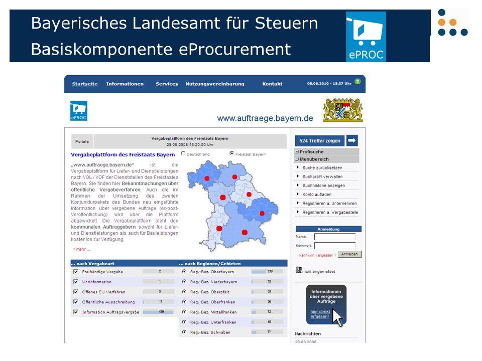 Bayerisches Landesamt Fur Steuern Basiskomponente Eprocurement Ppt Herunterladen