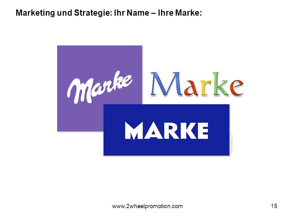 15 Marketing und Strategie: Ihr Name – Ihre Marke: