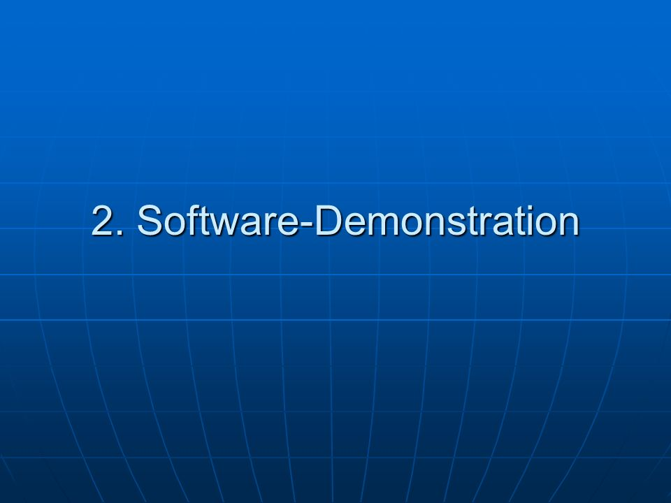 2. Software-Demonstration